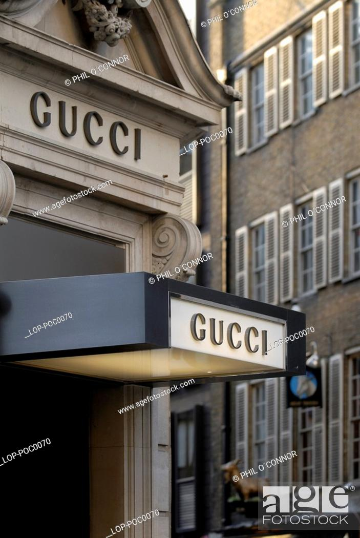 aca0120670 Stock Photo - Gucci shop in Old Bond Street. Bond Street takes its name  from Sir Thomas Bond who purchased a Piccadilly mansion called Clarendon  House and ...