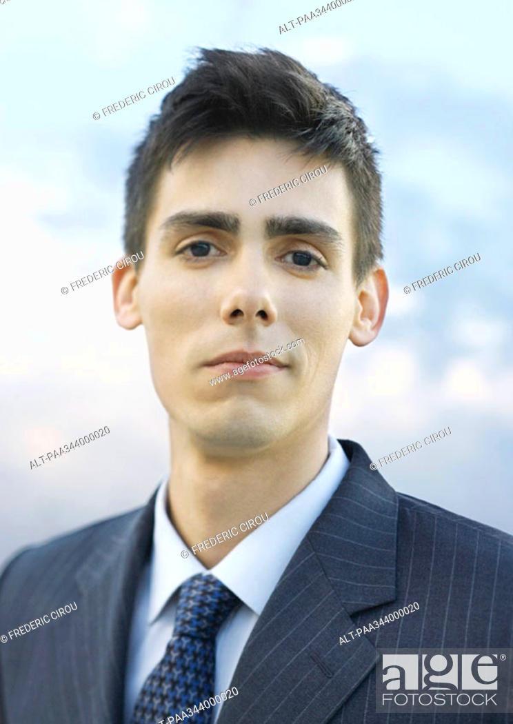 Stock Photo: Young businessman, portrait.