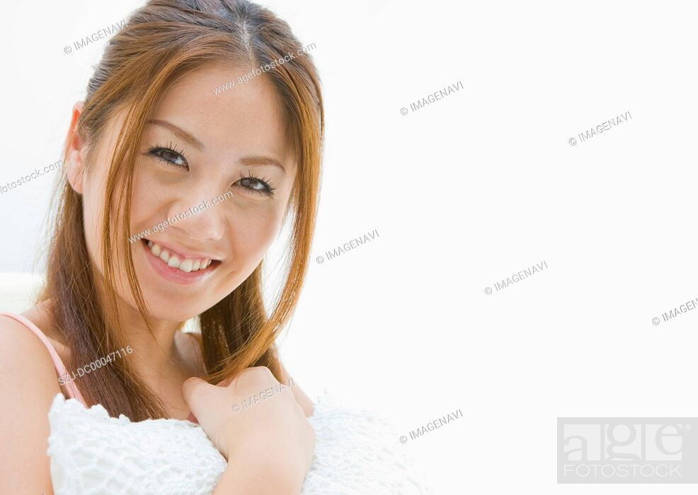 Stock Photo: Woman smiling.