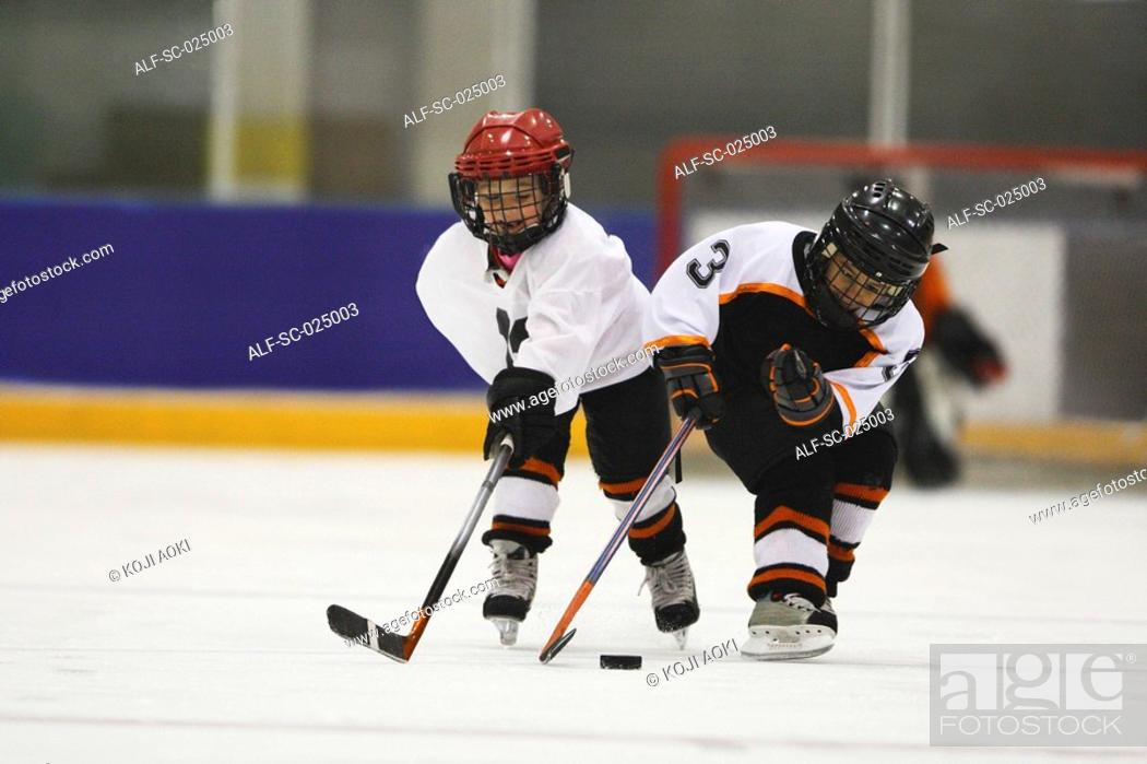 Stock Photo: Young Hockey Player.