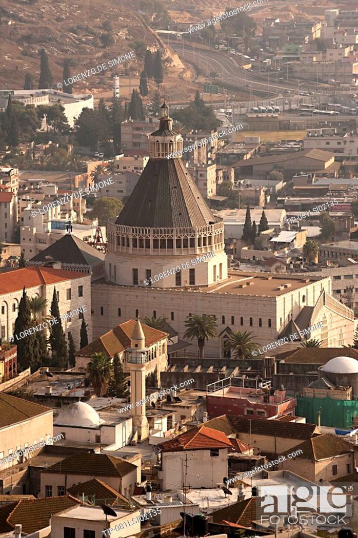 Stock Photo: Israel, Galilee, Nazareth, Basilica of the Annunciation.