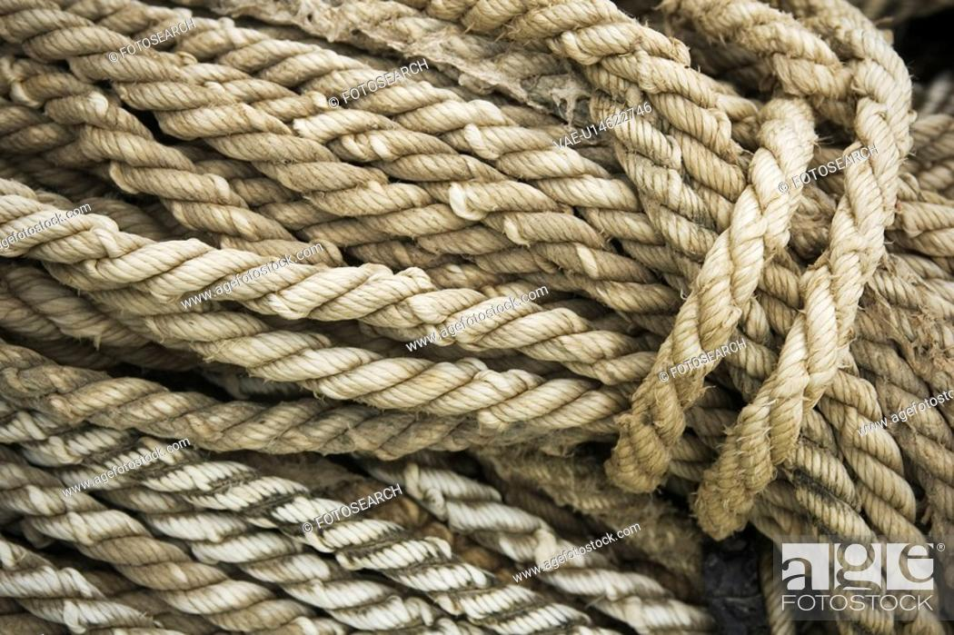 Stock Photo: Braided, Close-Up, Coil, Day, Fibers.