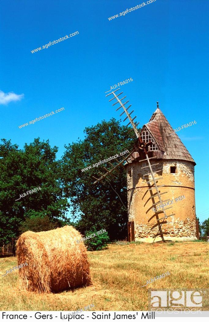 Stock Photo: France - Gers - Lupiac - Saint James' Mill.