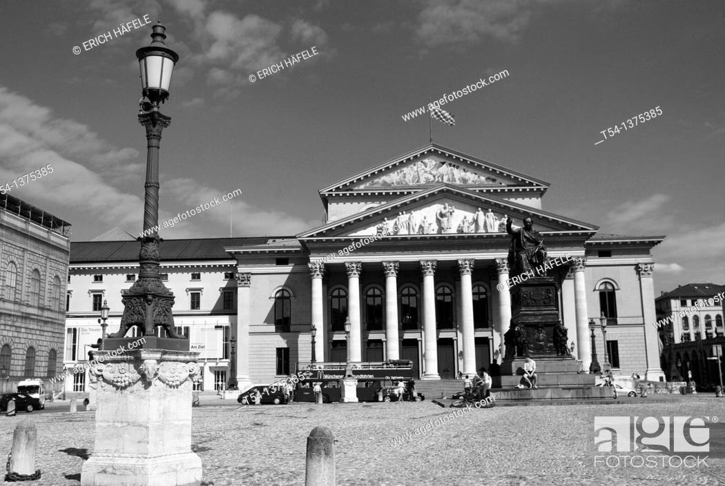 Stock Photo: Bavarian State Opera in Munich.