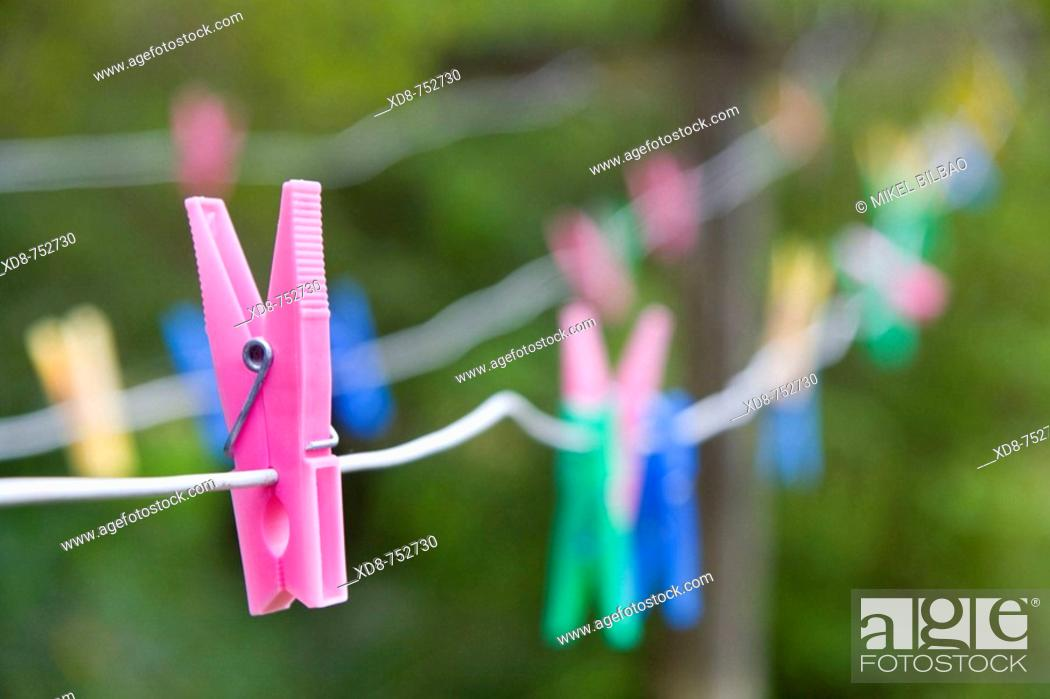 Stock Photo: clothes peg.