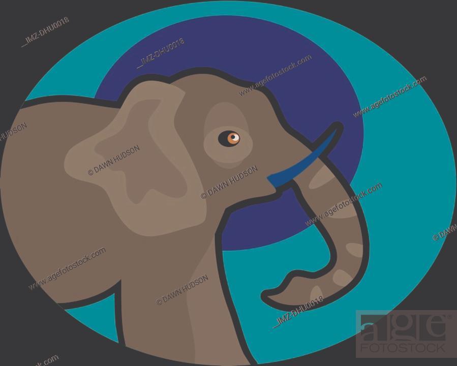 Stock Photo: Illustration of an elephant.