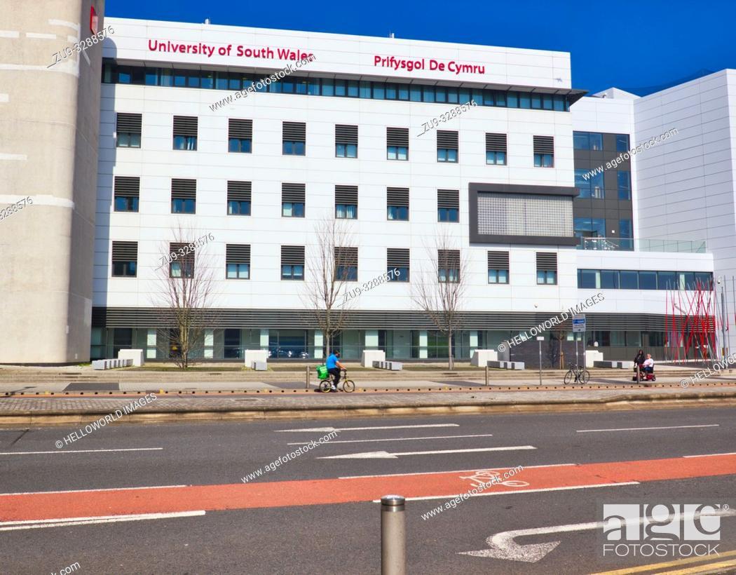 Stock Photo: University of South Wales (Prifysgol De Cymru), Cardiff, wales, United Kingdom.