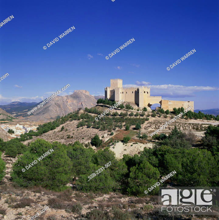 Stock Photo: Castillo de Velez BlancoVelez BlancoSpain.