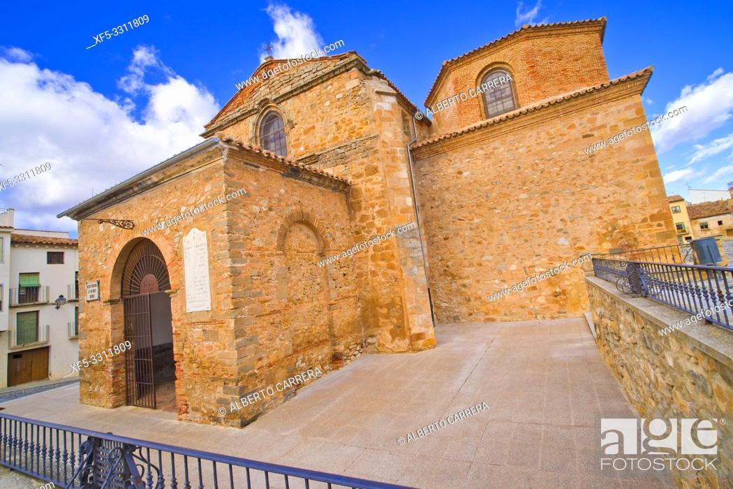 Stock Photo: San Miguel Church,12-16th Romanesque-Gothic Style, Soria, Castilla y León, Spain, Europe.