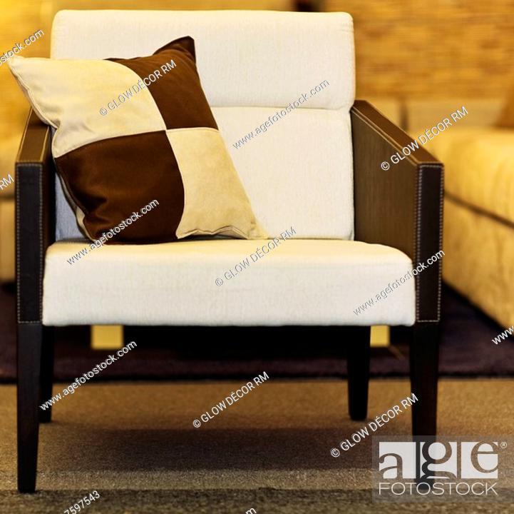 Photo de stock: Cushion in an armchair.
