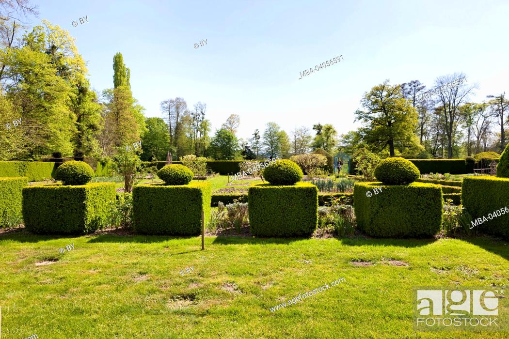 Stock Photo: Castle grounds of Chateau Cormatin, France.