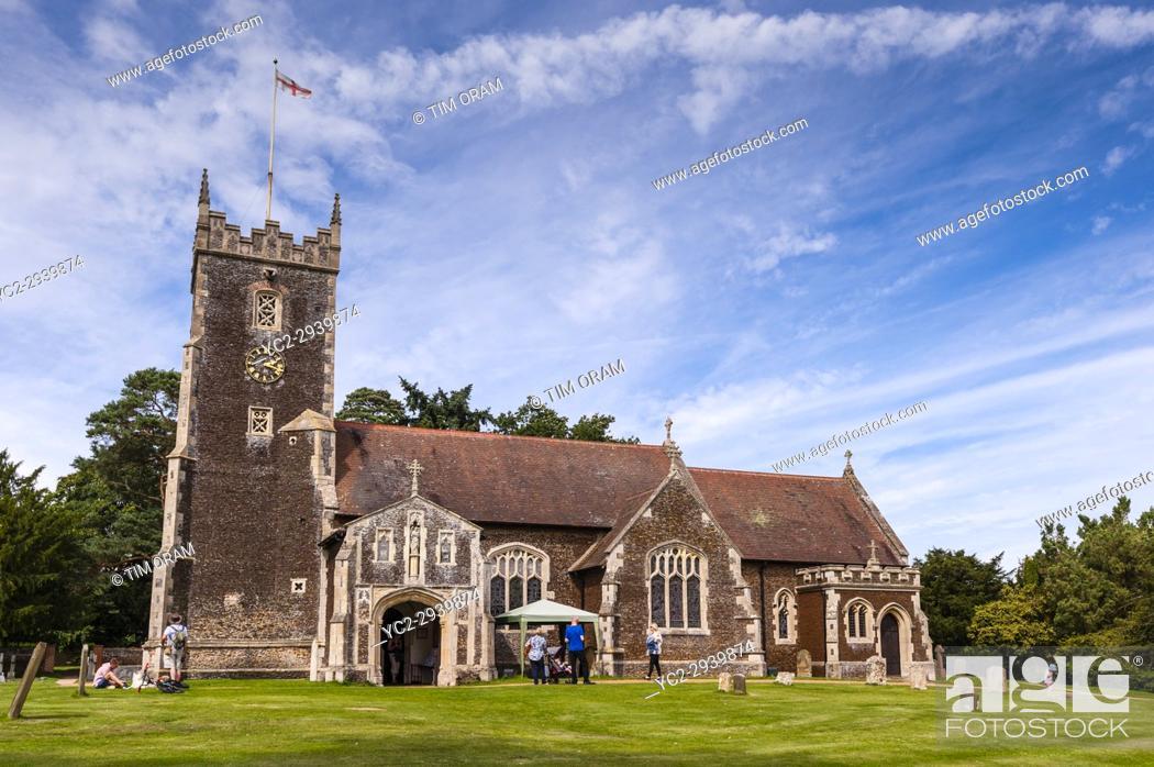 Stock Photo: St. Mary Magdalene Church at Sandringham in Norfolk , England , Britain , Uk.