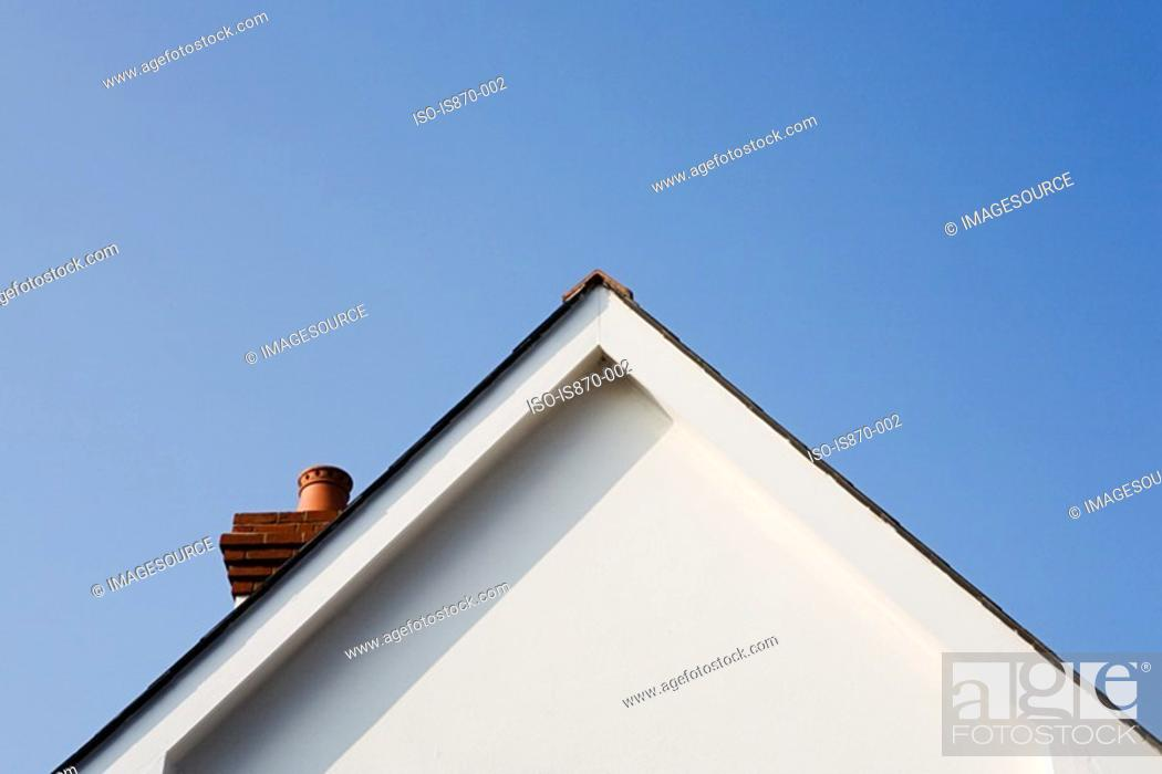 Stock Photo: Gable of a house.
