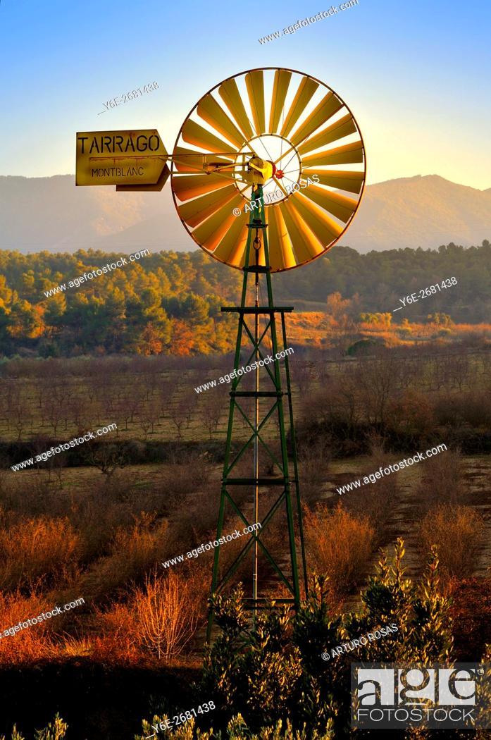 Stock Photo: Mill in Vallclara (Tarragona, Catalonia), Spain.