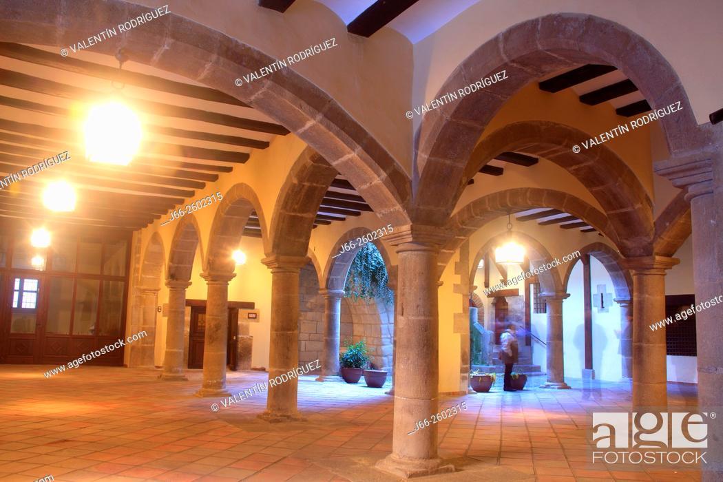 Stock Photo: Cyti Hall Rubielos de Mora. Sierra de Gudar. Teruel.