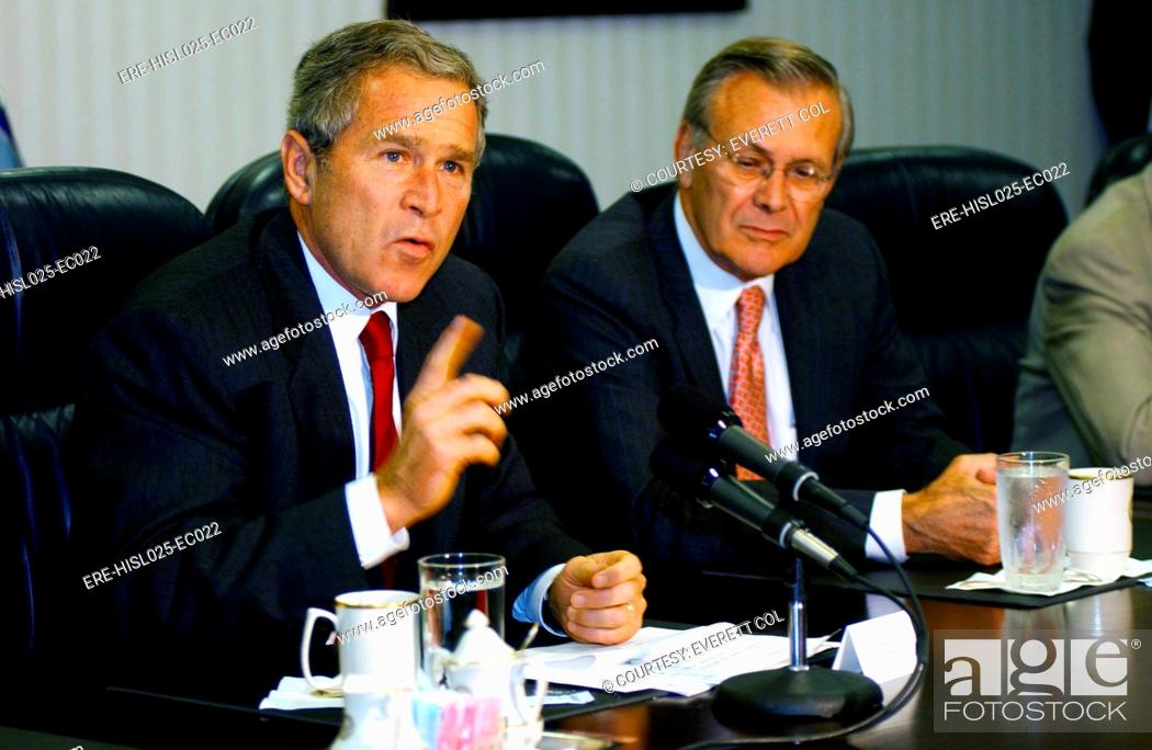 Imagen: U.S. President George W. Bush answers a question about Osama bin Laden during a press conference held after meeting with U.S.