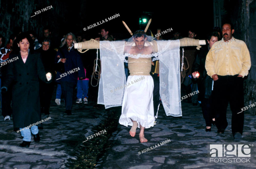 Stock Photo: 'Empalaos', Holy Week. Valverde de la Vera. Cáceres province. Spain.