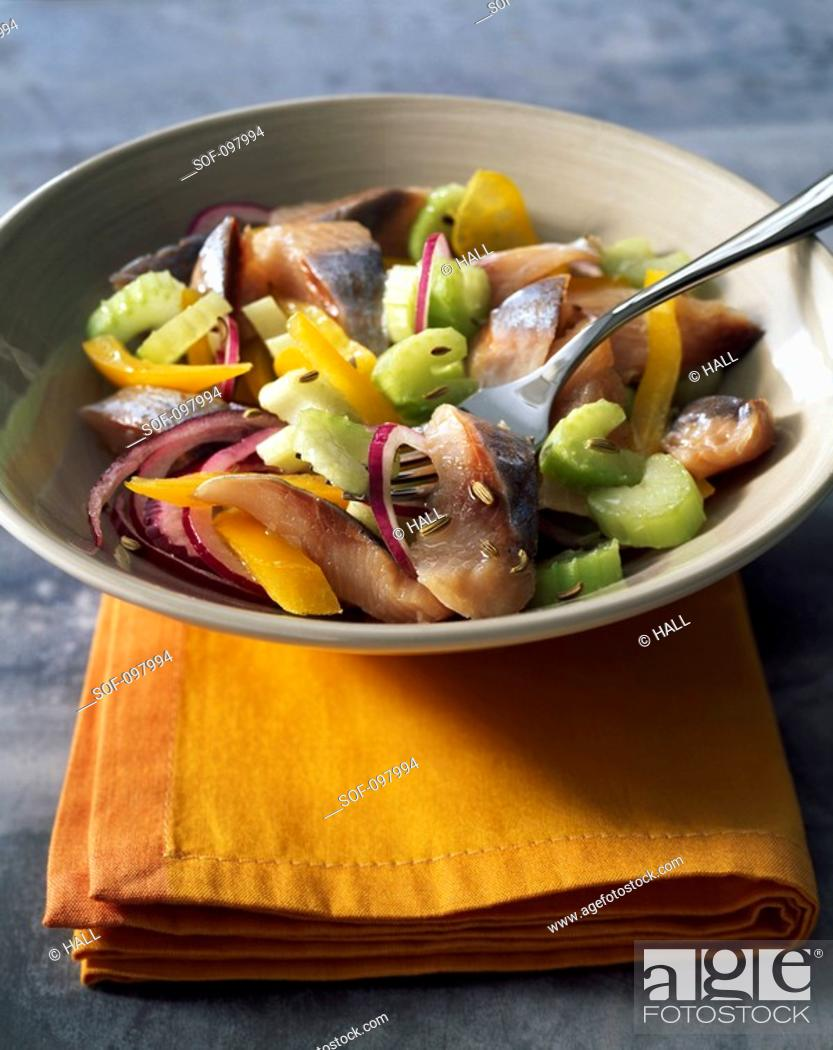 Stock Photo: Herring salad.