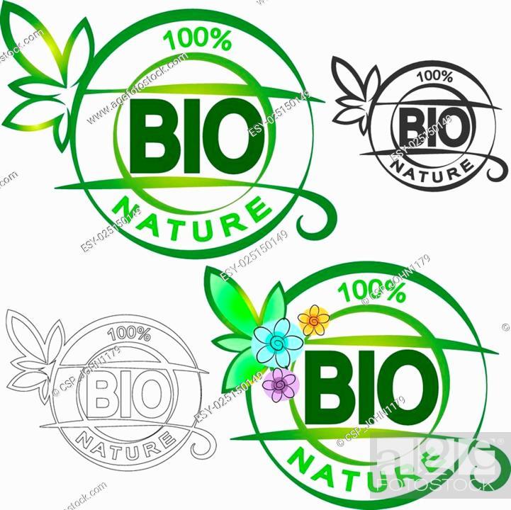 Stock Vector: Bio symbol.