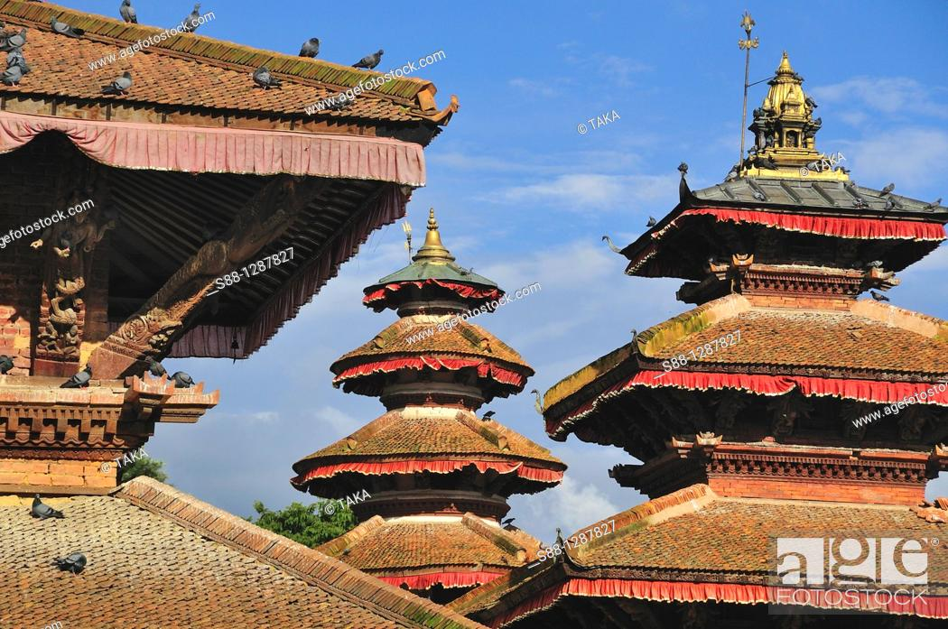 Stock Photo: Hanuman Dhoka complex, Kathmandu, Nepal.