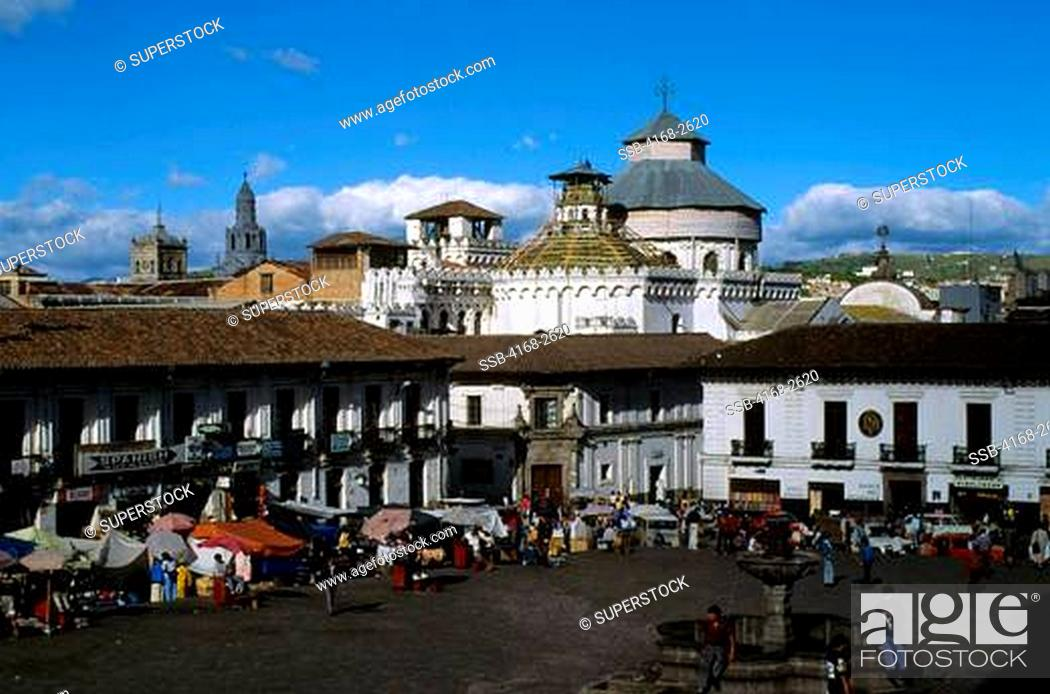 Ecuador Quito Old City Plaza San Francisco Spanish Colonial
