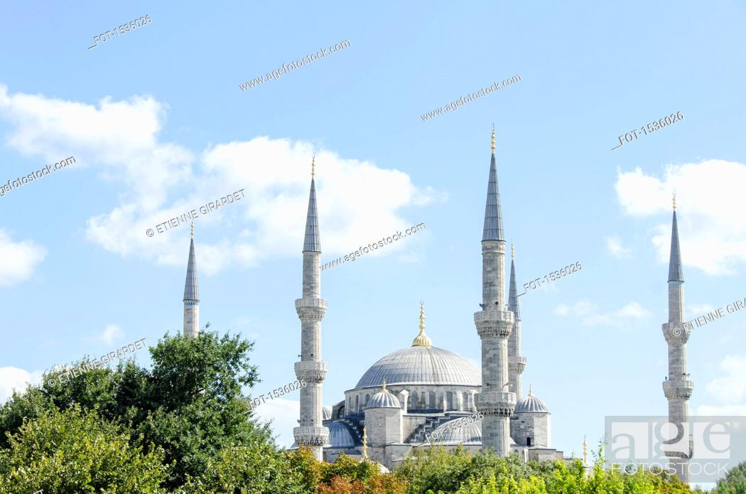 Stock Photo: Blue Mosque against sky.