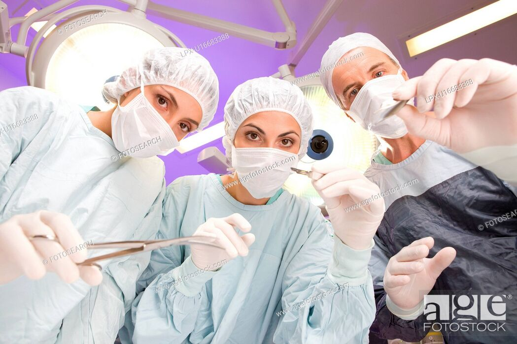Stock Photo: At an operation.