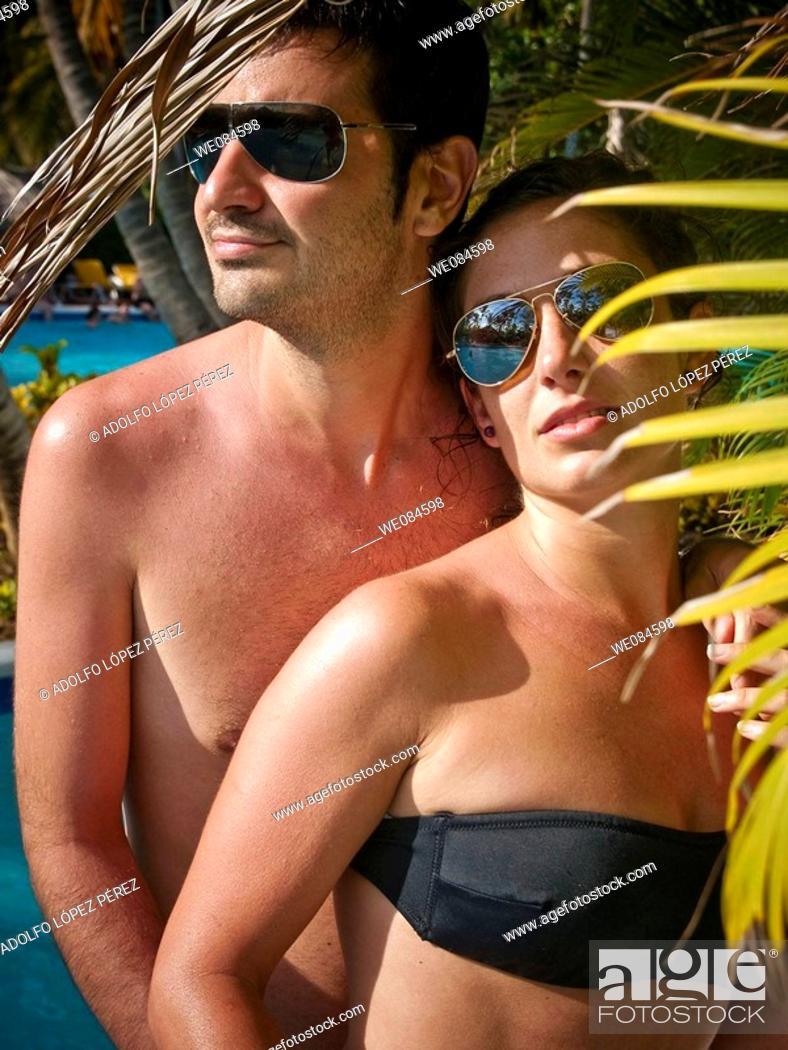 Stock Photo: pareja en Punta Cana, República Dominicana.