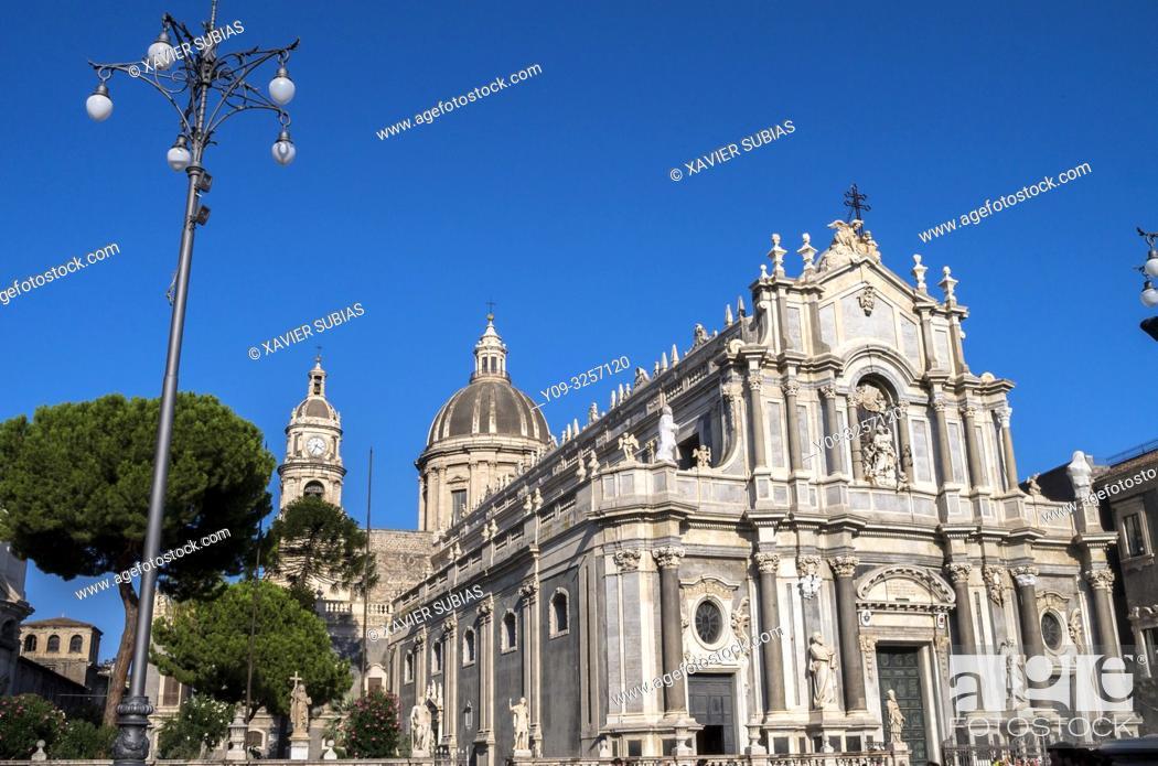 Stock Photo: Saint Agathe Cathedral, Catania, Sicily, Italy.