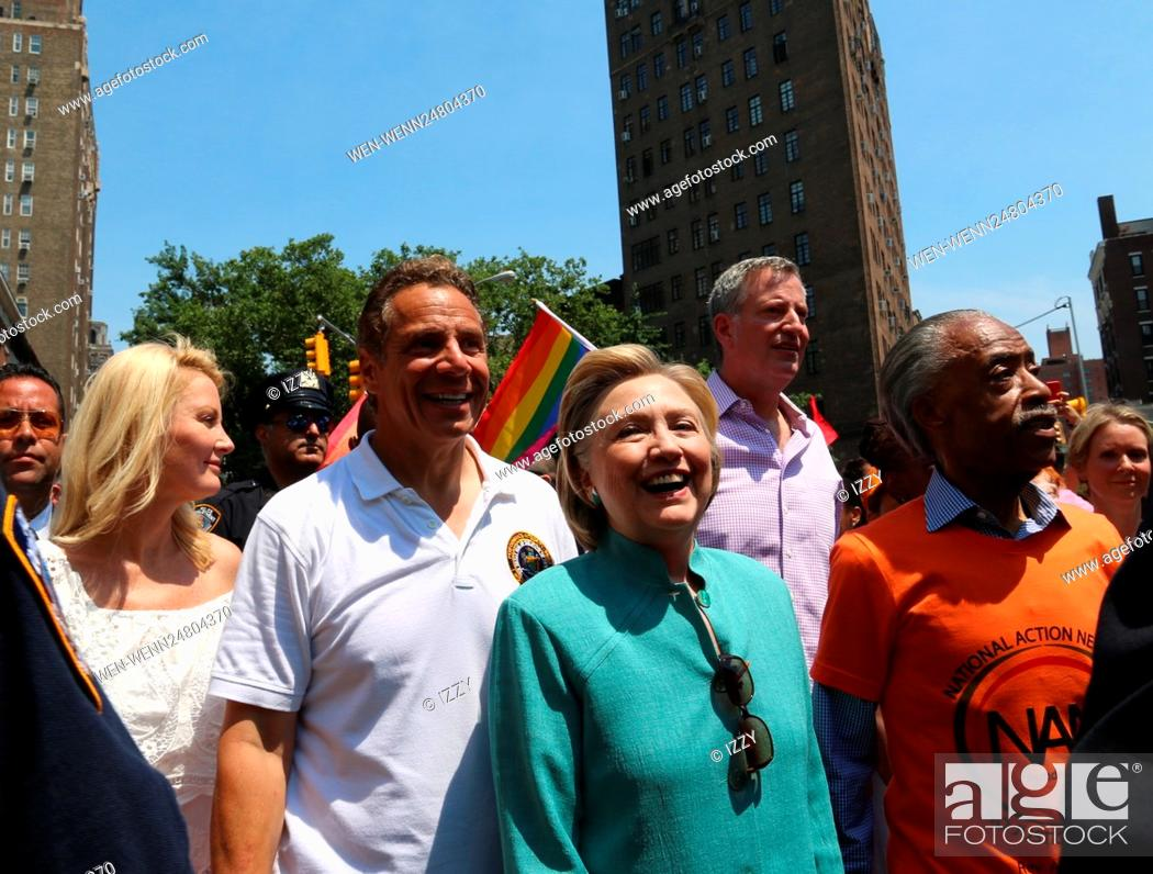 Stock Photo: New York City Pride March 2016 Featuring: Sandra Lee, Andrew M. Cuomo, Hilary Clinton Where: New York City, New York, United States When: 26 Jun 2016 Credit:.