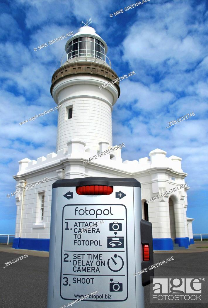 Imagen: Fotopol for taking self portraits at Cape Byron Lighthouse, Byron Bay, NSW, Australia.