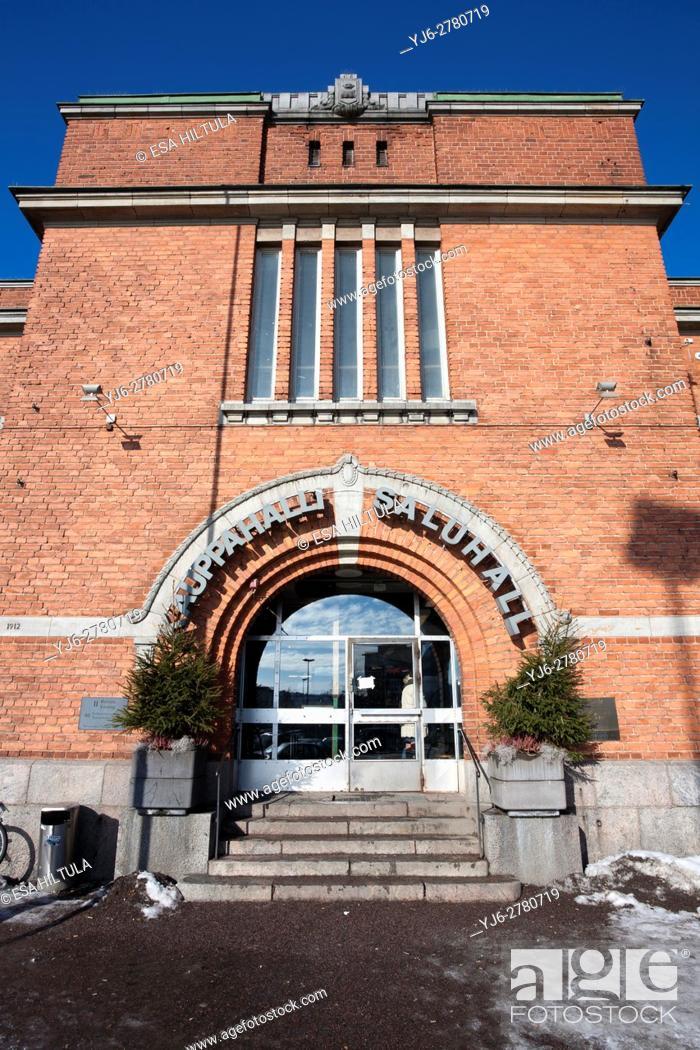 Stock Photo: Kauppahalli market hall in Hakaniemi Helsinki Finland.