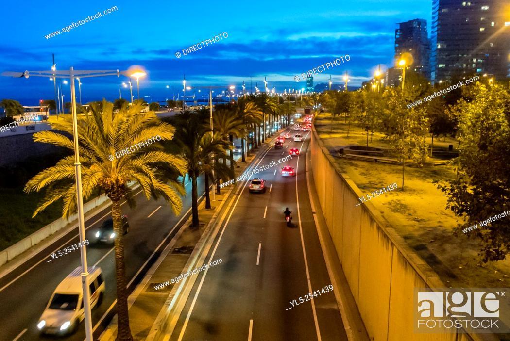 Imagen: Barcelona, Spain, Street Scenes, Ring Road Highway, Port Forum Neighborhood, .