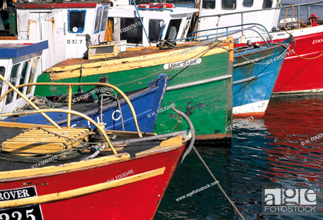 Stock Photo: Ireland, Kinsale, boats.