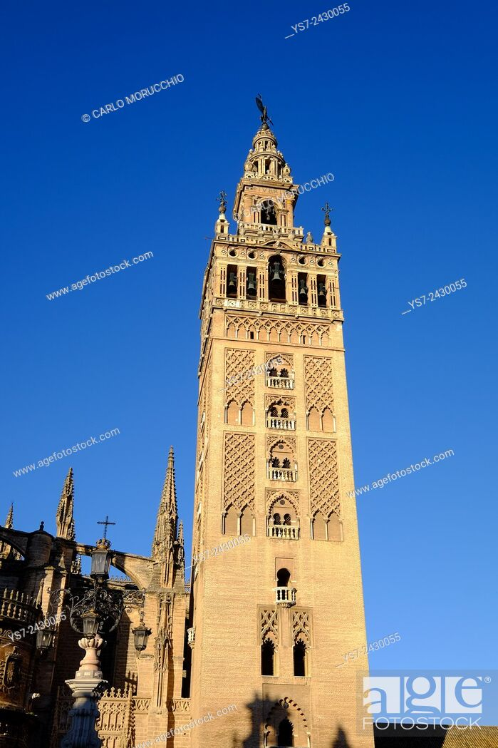 Stock Photo: Giralda bell tower, Seville, Andalusia, Spain.