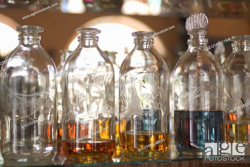 Stock Photo: Bottle, Close-Up, Group Of Objects, In A Row.
