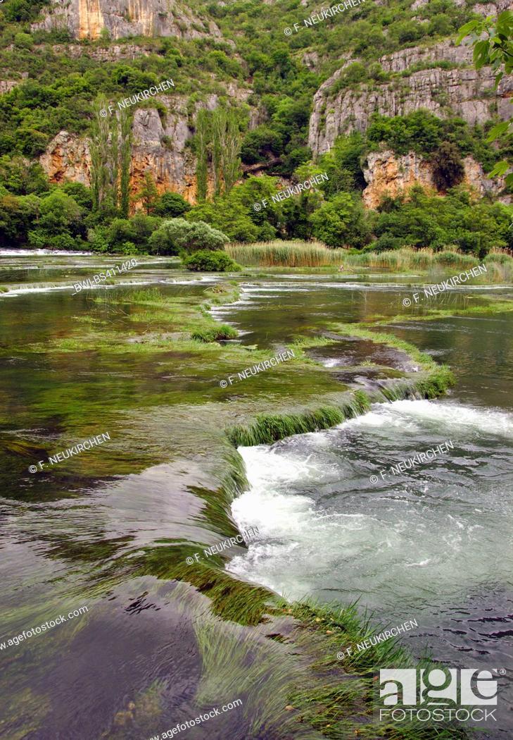 Stock Photo: Roski Slap waterfall and cascades, Croatia, Krka National Park.