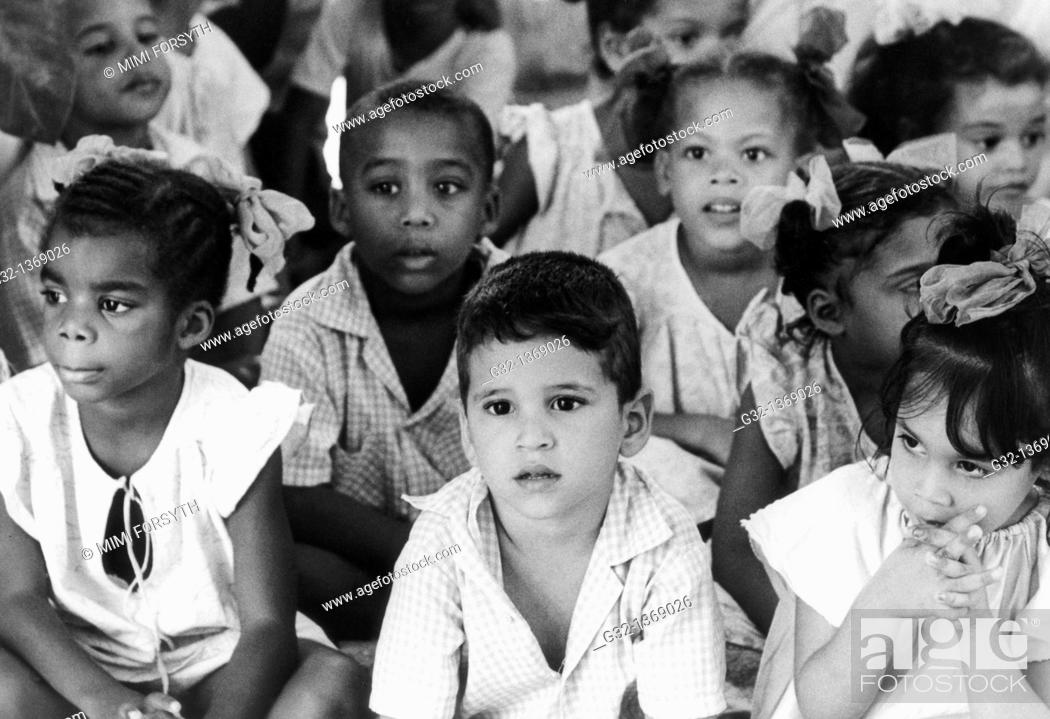 Stock Photo: Children in daycare center, Santiago de Cuba, Cuba.