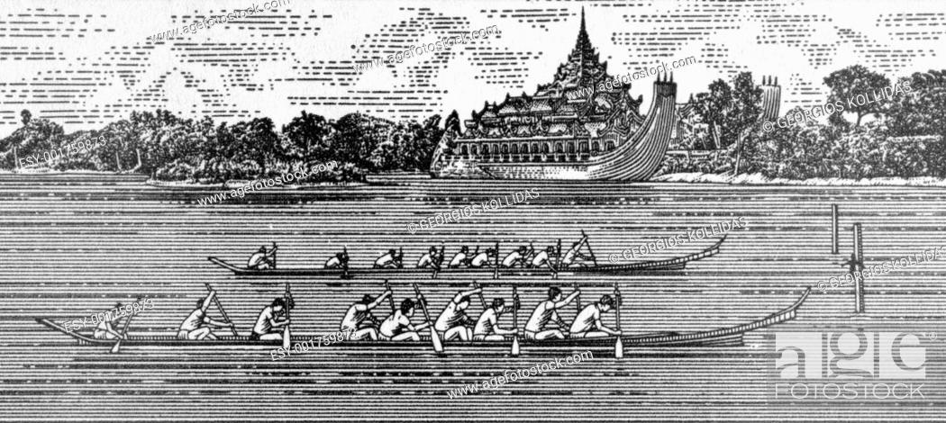 Stock Photo: Rowing.