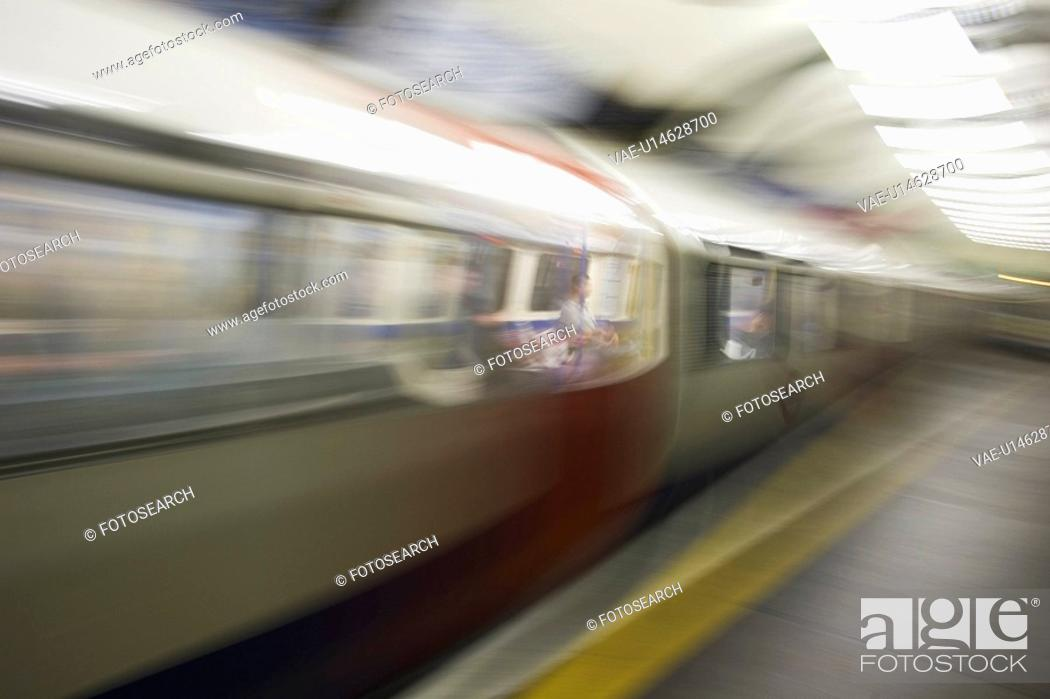 Stock Photo: Blurred, Capital Cities, City Life, Commute, Commuter.