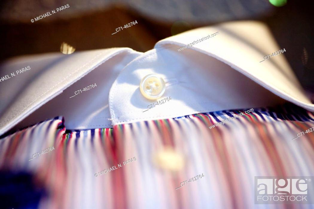 Stock Photo: Shirt collar.
