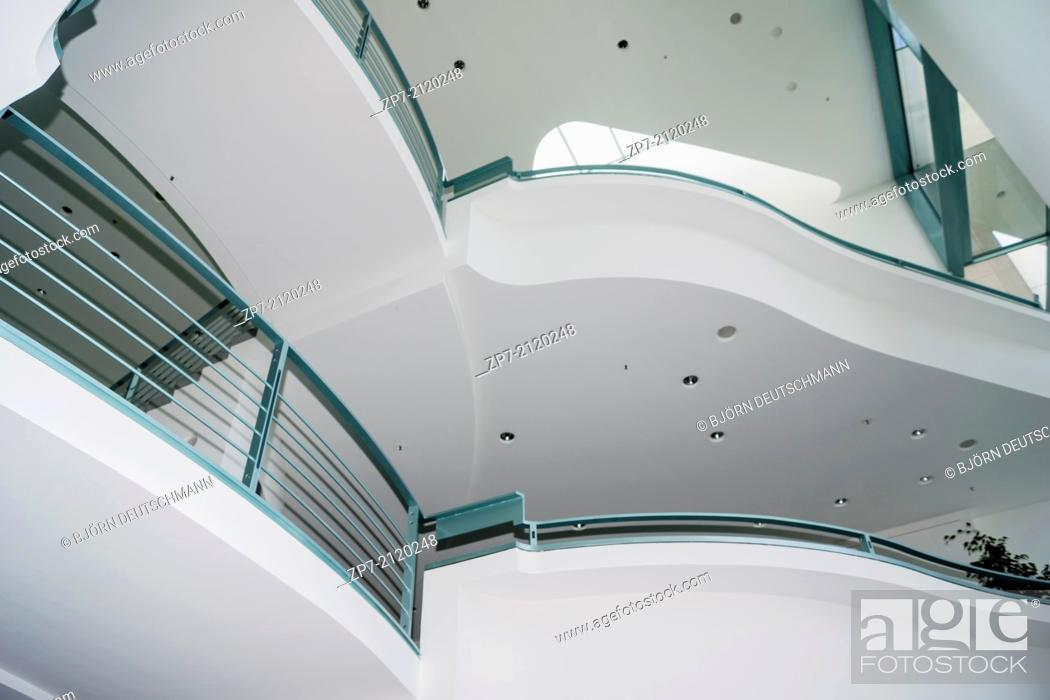 Stock Photo: Inside the Federal Chancellery, Home of the Chancellor and the Chancellery staff.