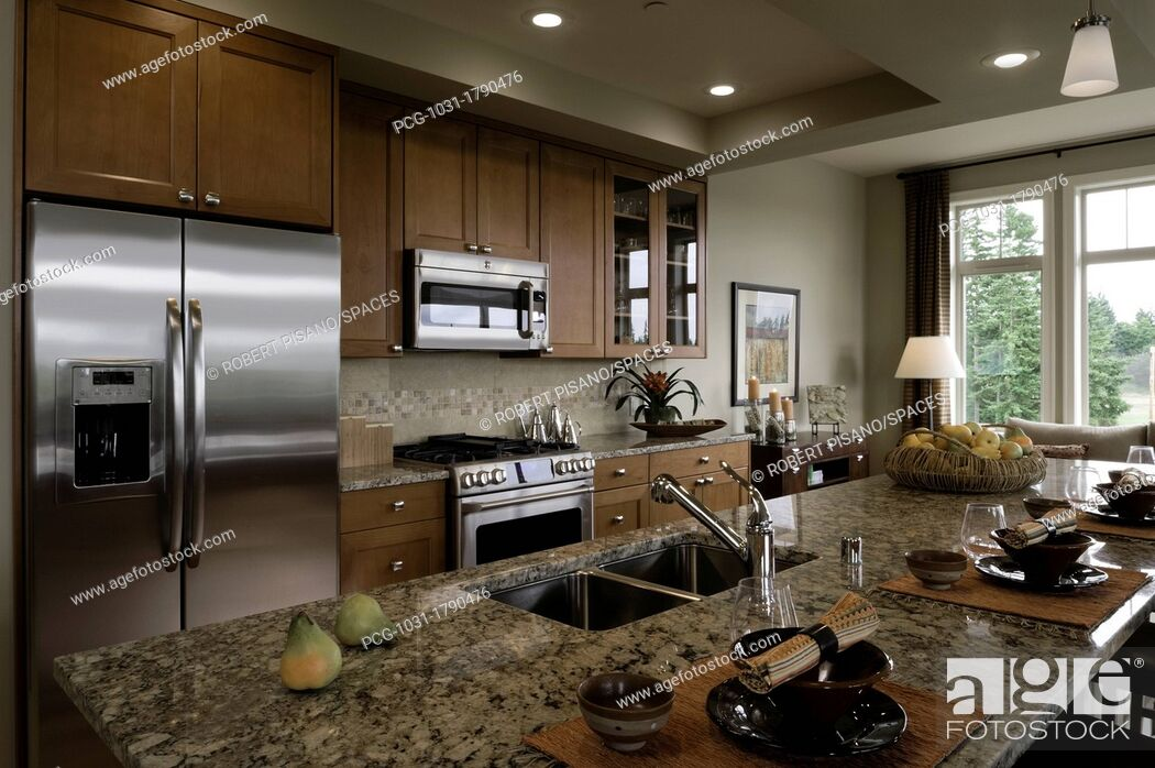 Stock Photo: Contemporary Kitchen.