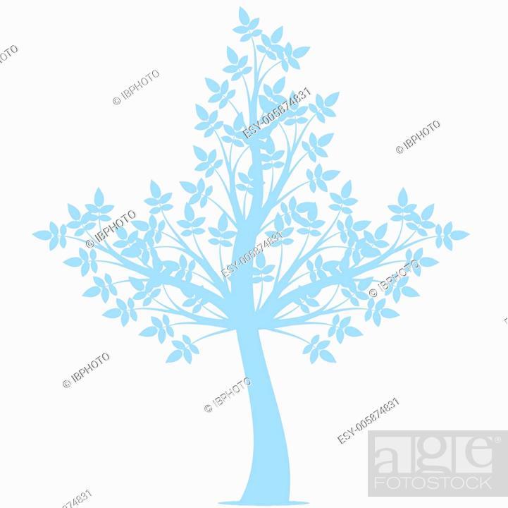 Stock Vector: Art Tree.