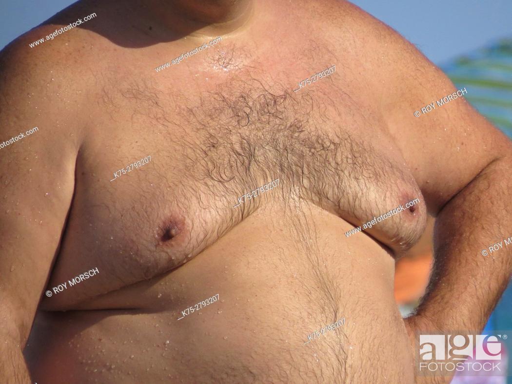 Stock Photo: Fat man.