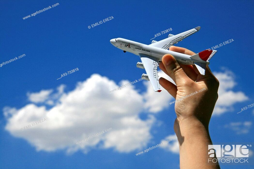 Stock Photo: Imaginative flight.