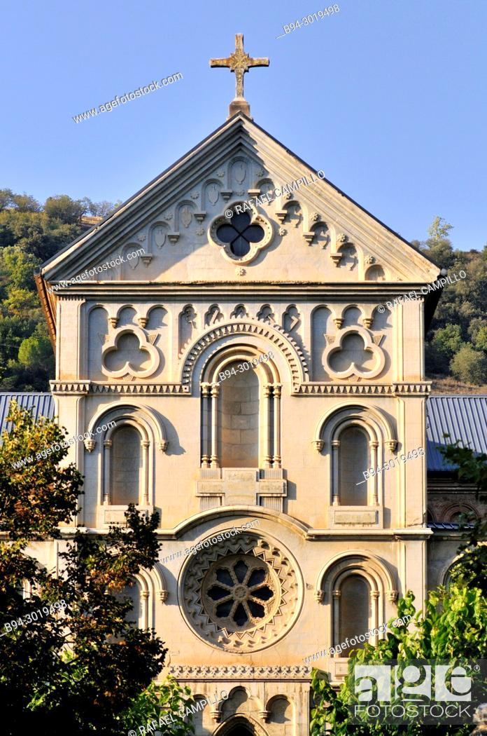 Stock Photo: The Council Seminary of La Seu d'Urgell, large building built in 1860, designed by Roman Samsó and promoted by Bishop Josep Caixal.