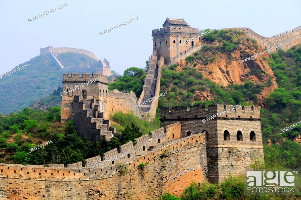 Photo de stock: Great Wall of China at Jinshanling.