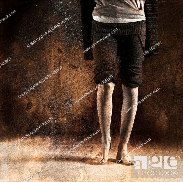 Stock Photo: Ballerina Legs.