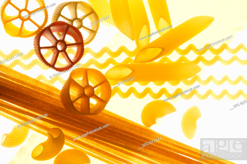 Stock Photo: Various types of pasta.